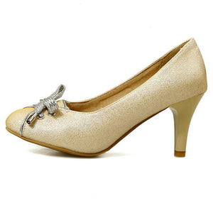 High Quality Medium Heel Bowtie Shoes - J20Style - 2