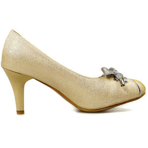High Quality Medium Heel Bowtie Shoes - J20Style - 3