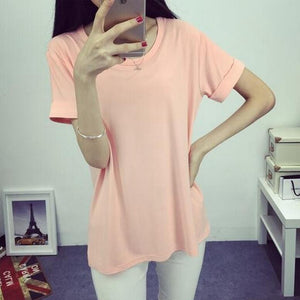 Summer Candy Color O-Neck Tops - J20Style - 1