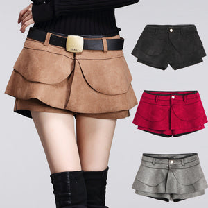 Autumn Crochet High Waist Pleated Shorts - J20Style - 1