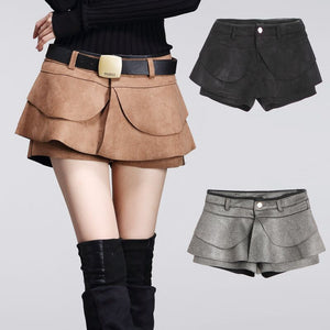 Autumn Crochet High Waist Pleated Shorts - J20Style - 2