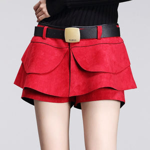 Autumn Crochet High Waist Pleated Shorts - J20Style - 3