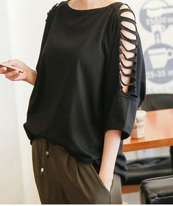 Casual Loose Black Blouse - J20Style - 3
