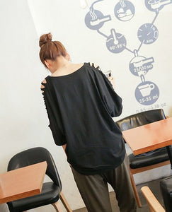 Casual Loose Black Blouse - J20Style - 6