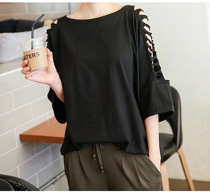 Casual Loose Black Blouse - J20Style - 1