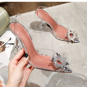 Transparent Crystal Ladies High Heels