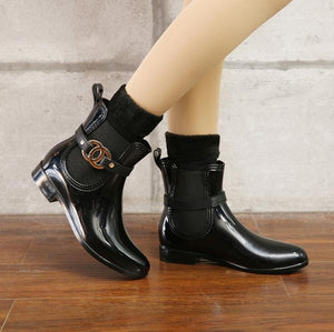 Walking Waterproof PVC Ladies Boots