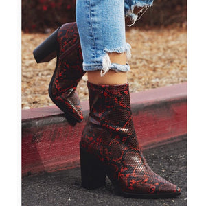 Ankle Boots Prom Snake