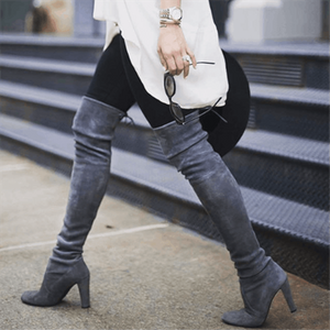 Over The Knee Leather Boots
