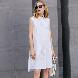 Asymmetric Knee Length Dresses