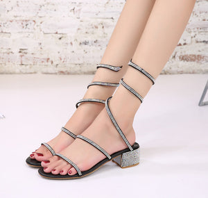 Crystal Gladiator Sandals