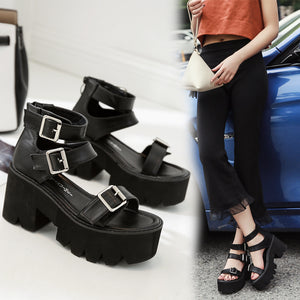 Fashion Sandals High Thick Heel
