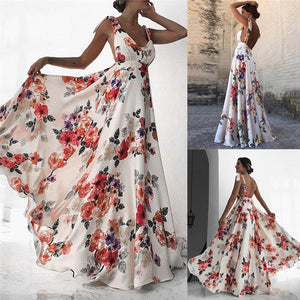 Backless Vintage Long Boho