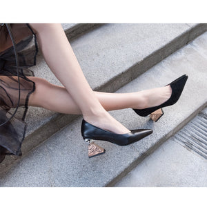 Full Genuine Leather Pumps