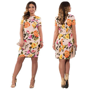 Large Size Pencil Midi Dress