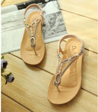 Beaded Thong Flat Flip Flop Sandals - J20Style - 27