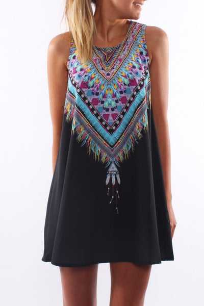 Casual Boho Mini Evening Dress - J20Style - 4