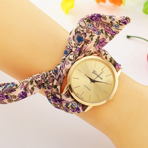 Fabric Bracelet Geneva Wrist Watch - J20Style - 2