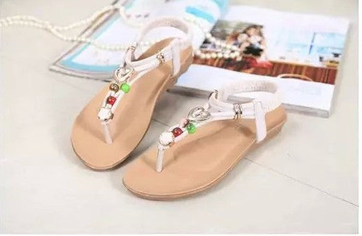 Beaded Thong Flat Flip Flop Sandals - J20Style - 8