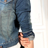 Denim Long Sleeve Slim Outwear - J20Style - 2