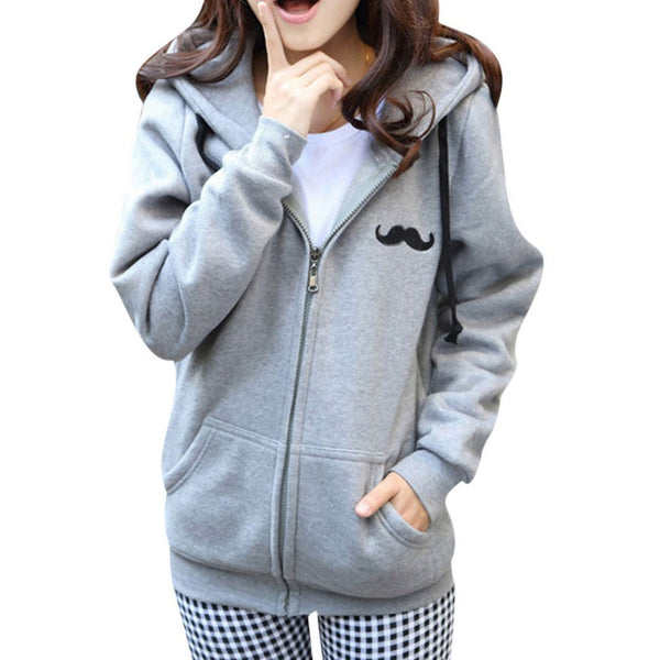 Korean Zipper Sweatshirt for Women - J20Style - 1