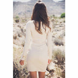 Brazilian V-Neck Strap Party Long Sleeve Dress - J20Style - 3