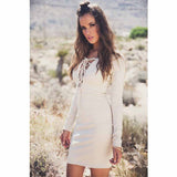 Brazilian V-Neck Strap Party Long Sleeve Dress - J20Style - 6