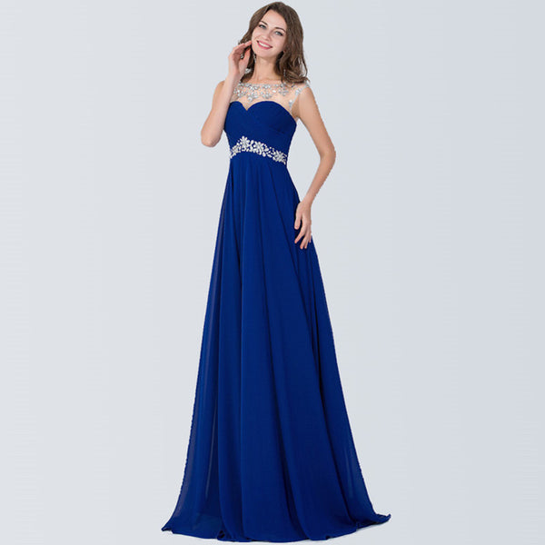 Long Luxury Evening Beaded Prom Dress - J20Style - 3
