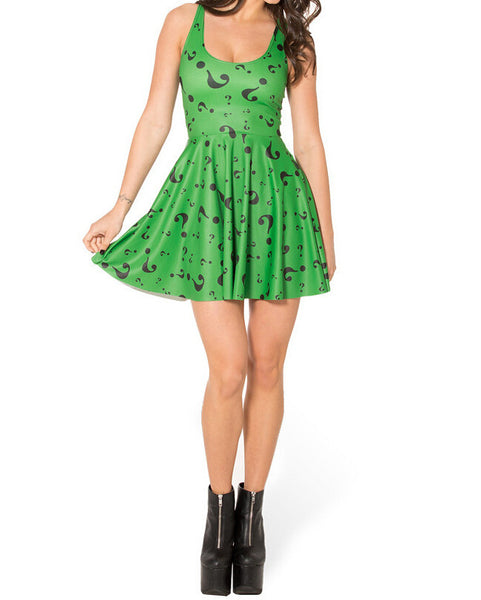 Digital Printed Reversible Skater Dress - J20Style - 1