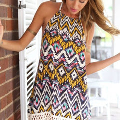 Chiffon Sheath Printed Beach Dress - J20Style - 2