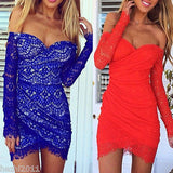 Long Sleeve Evening Party Mini Dress - J20Style - 2