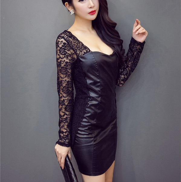 Black Temptation Lace Party Dress - J20Style - 3