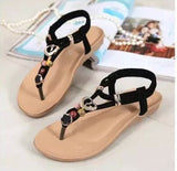 Beaded Thong Flat Flip Flop Sandals - J20Style - 7