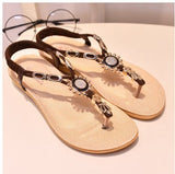 Beaded Thong Flat Flip Flop Sandals - J20Style - 17