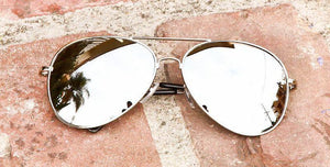 Trendy Hispter Silver Mirror Aviator Sunglasses - J20Style - 3