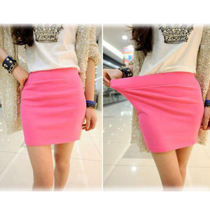 Candy Color Buttock Short Skirt - J20Style - 1