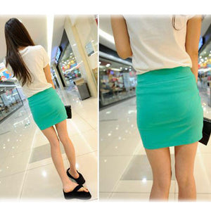 Candy Color Buttock Short Skirt - J20Style - 4