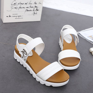 Summer Gladiator Aged Leather Flat Fashion Sandal
