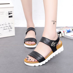 Aged Leather Comfortable Gladiator Sandals
