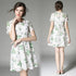 Hollow Out Leaf Pattern Flower Lace Dress