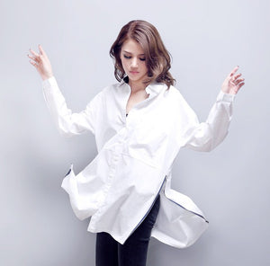 Casual Cotton White Shirt Blouse - J20Style - 6