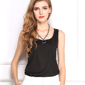 Summer Candy Color Sleeveless Chiffon T-Shirt - J20Style - 11