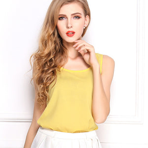 Summer Candy Color Sleeveless Chiffon T-Shirt - J20Style - 15