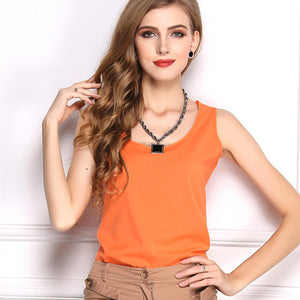 Summer Candy Color Sleeveless Chiffon T-Shirt - J20Style - 16
