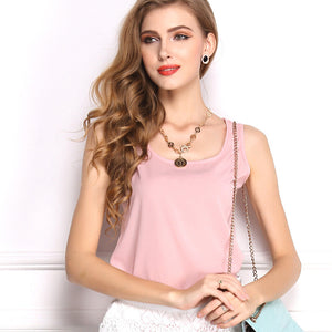 Summer Candy Color Sleeveless Chiffon T-Shirt - J20Style - 17