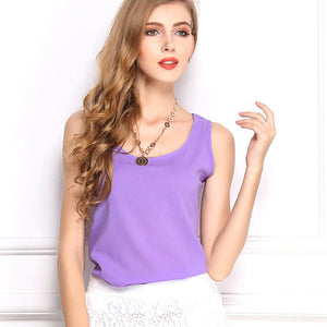 Summer Candy Color Sleeveless Chiffon T-Shirt - J20Style - 20