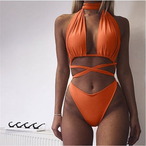 Summer Bandage Rope Hollow-Out Jumpsuit - J20Style - 8