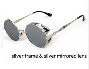 High Quality Steampunk Round Sunglasses - J20Style - 7