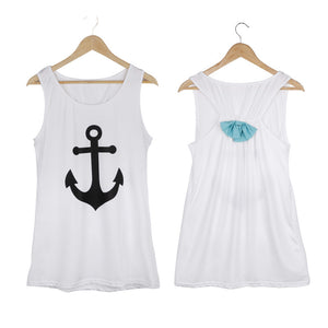 Summer Anchor Printed Sleeveless Tops - J20Style - 10