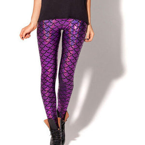Shine Fish Scale Mermaid Printed Legging - J20Style - 9